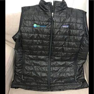Patagonia Men's Black Vest with Logo